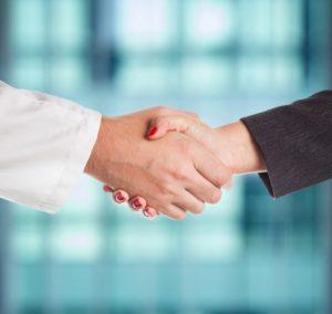 handshake, meeting, meet the dentist